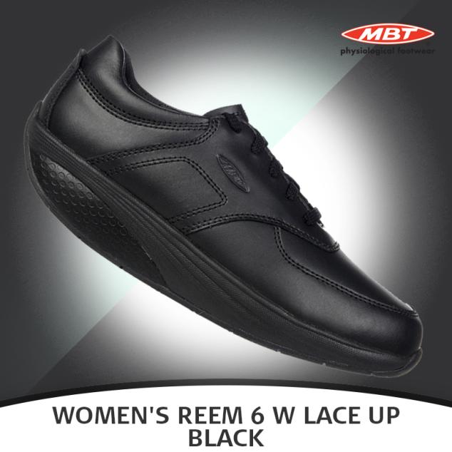 MBT Women s Reem 6 W Lace Up Black Shoe  c55bd5780edc1