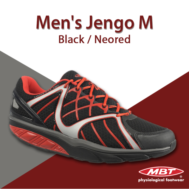 MBT Men's Jengo M Black Sports Shoe